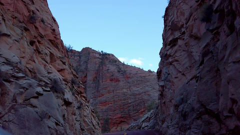 Zion Canyon National Park in the evening - travel photography Footage