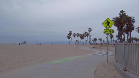 Ocean Walk at Venice Beach - travel photography Footage