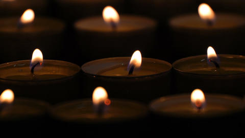 many little candles creative background Archivo