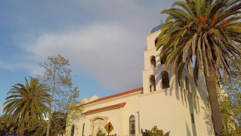 Catholic Church at Old Town San Diego - travel photography Footage