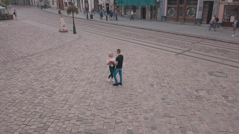 Young couple together. Relationship and love. Happy. Man... Stock Video Footage