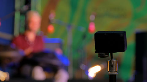Action camera recording open air concert Footage
