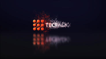 Particle Glossy logo After Effects Template