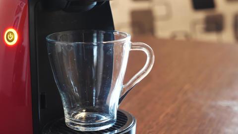 Making coffee on the espresso machine Footage