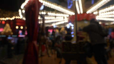 Merry go round at night blurred Live Action