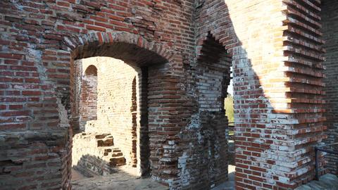 Old bricks ruined building Footage