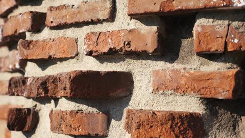 Old bricks wall at ancient ruin Footage