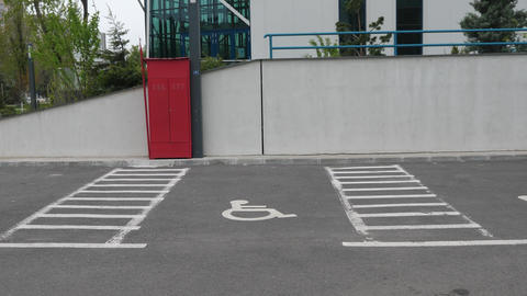 Parking spot for persons with disabilities Footage