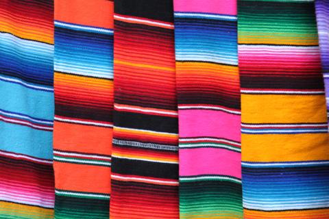 Mexican poncho colored blanket Fotografía