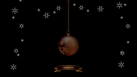 Christmas ball made of snowflakes isolated / Vector... Stock Video Footage