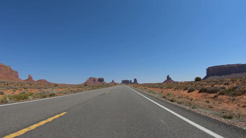Drive through Arches National Park in Utah Live Action