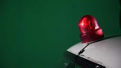 Police Red Emergency Light Live Action