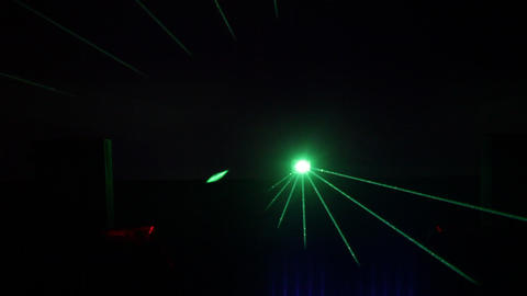 Laser show lights in Resort Footage