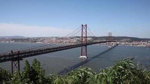 Bridge Through River Footage