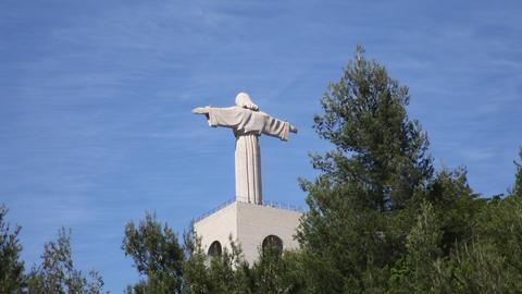 Christ statue stone Footage