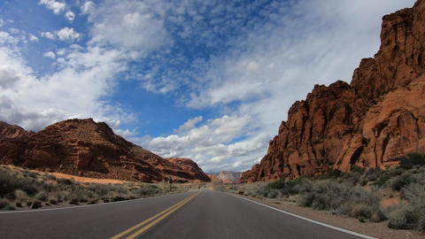 Road trip at Snow Canyon in Utah Footage