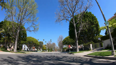 Drive through the Palm tree Alleys of Beverly Hills - LOS ANGELES. USA - MARCH Archivo