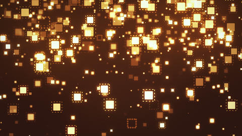 Particles from rectangles gold color CG動画素材