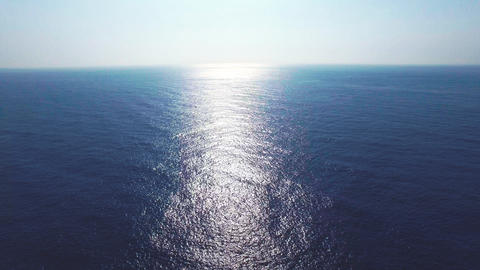 Aerial view of the blue ocean surface Footage