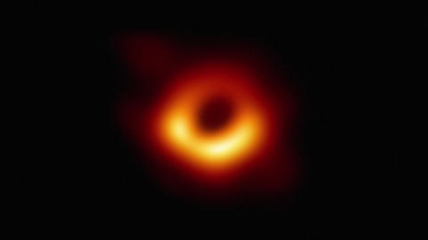 Black hole in space. Discovery 2019. 4K resolution Animation