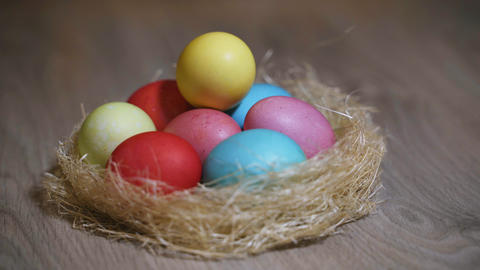 Colorful Easter Eggs Stock Video Footage
