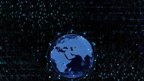 Earth on Digital Network 18 J1BSx 4k Animation
