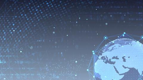 Earth on Digital Network 18 J1Gx 4k Animation