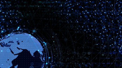 Earth on Digital Network 18 J2Bx 4k Animation