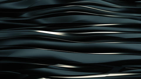 Wavy bands Background reflective Dark blue metal Animation