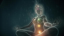 Protection Meditation of a Woman in a White Sphere Animation