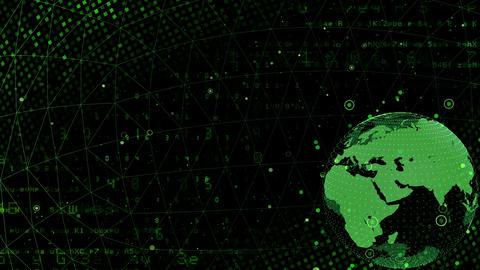 Earth on Digital Network 18 M1Bx 4k Animation