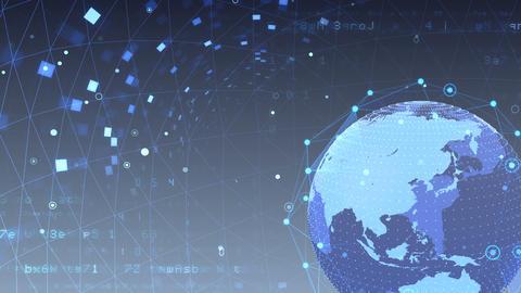 Earth on Digital Network 18 K1Gx 4k Animation