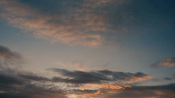 Bright clouds 15 sunset Footage