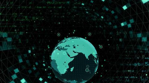 Earth on Digital Network 18 M2Bx 4k Animation