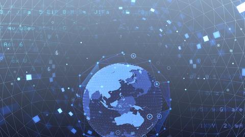 Earth on Digital Network 18 M2Gx 4k Animation