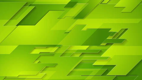 Bright green tech geometric abstract motion background Animation