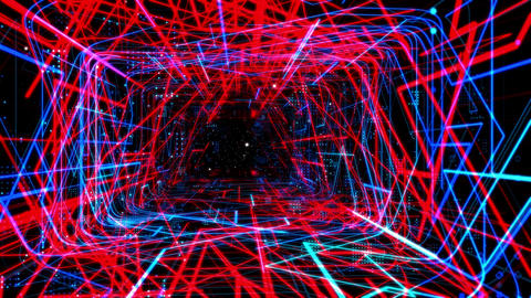 Laser Network Tunnel Light 01 Animation