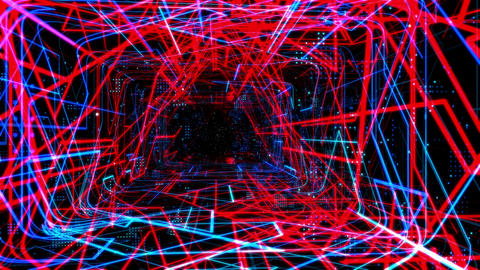 Laser Network Tunnel Light 01 Stock Video Footage