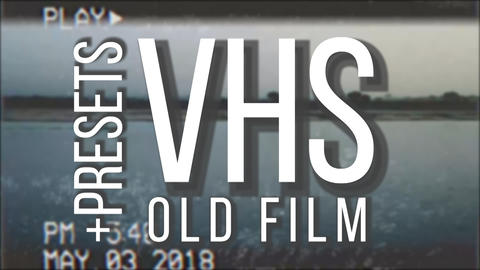 Vhs old film pack Premiere Proテンプレート