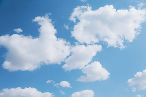 White clouds on blue background 001 フォト