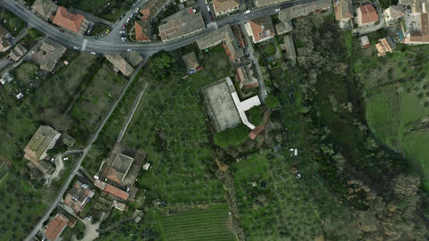 Aerial top down view of scenery of Tuscany, Italy Live影片
