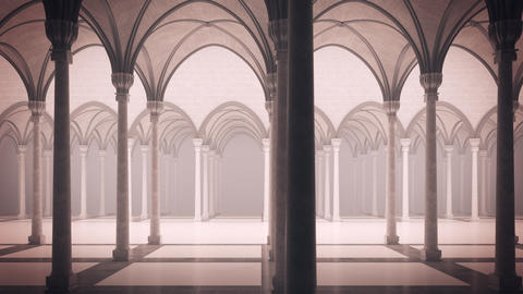 [alt video] Gothic palace with an inner courtyard