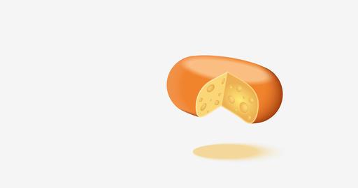 animation cheese icons on white background ライブ動画