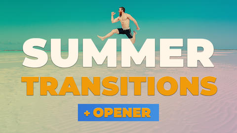 Summer Transitions & Opener Premiere Pro Template