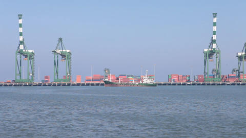 Port And Harbor stock footage