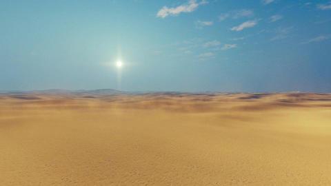 Motion through african sandy desert 4K Footage