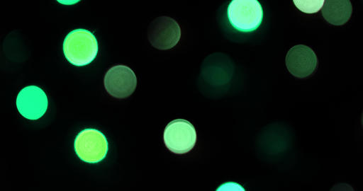 Colorful camera bokeh defocusecd at night Footage