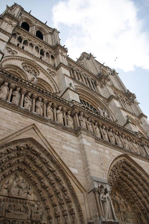 Architectural details of Cathedral Notre Dame de Paris Photo