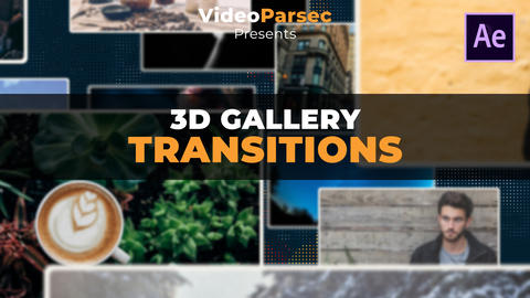 3D Gallery Transitions After Effects Template
