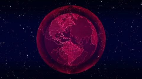Digital planet Earth loopable animation Animation